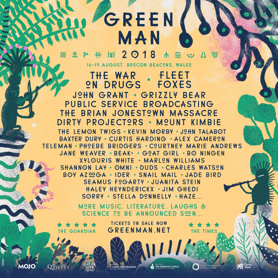 NEWS: Fleet Foxes, The War On Drugs, John Grant and Jane Weaver amongst first names for Green Man 2018