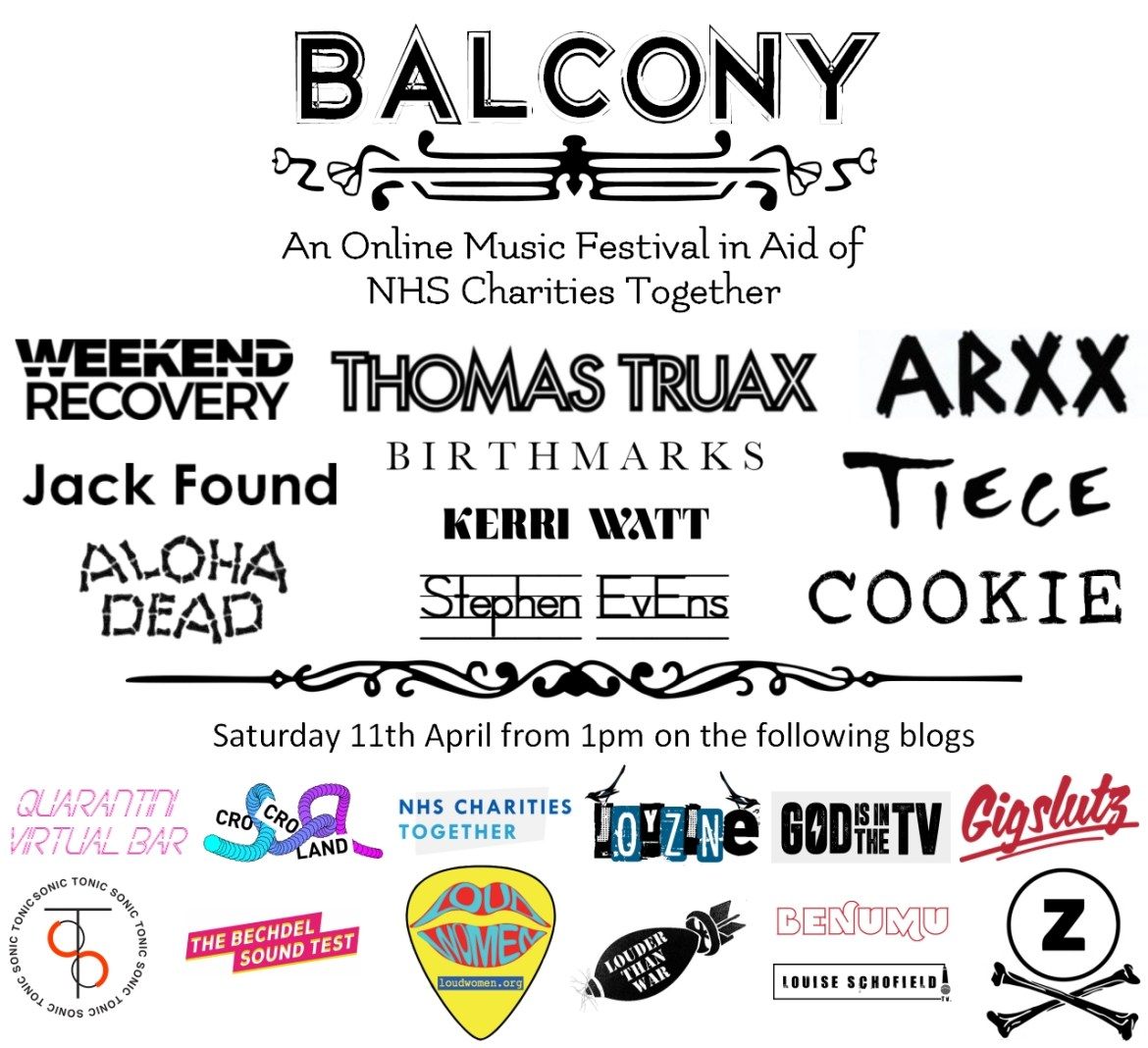 STREAM: Balcony Online Festival 2 today from 1pm !