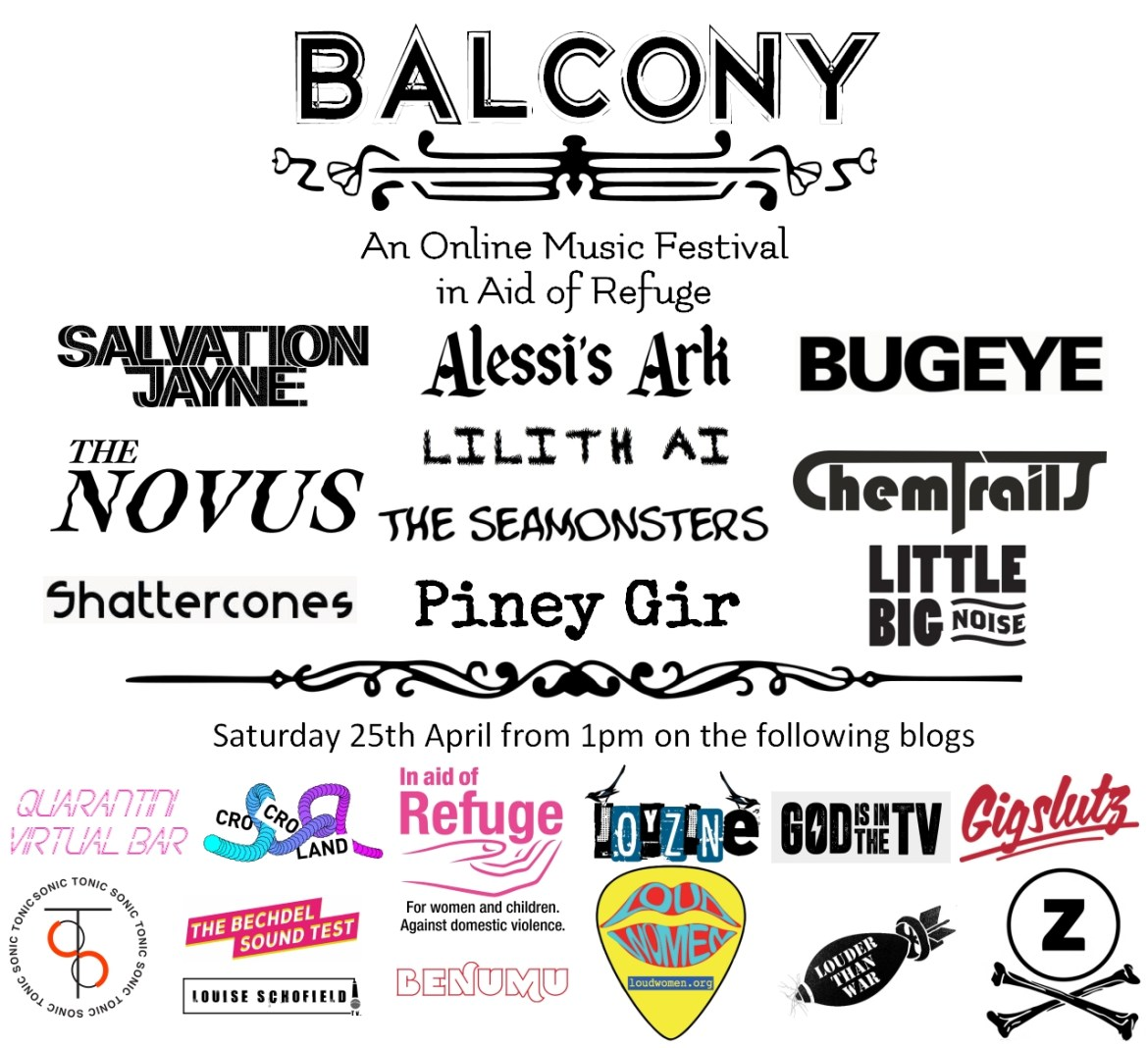STREAM: BALCONY ONLINE FESTIVAL #3 – Today from 1pm in Aid of Refuge!