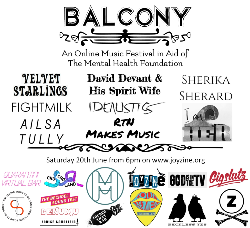 STREAM: BALCONY FESTIVAL #6 IN AID OF THE MENTAL HEALTH FOUNDATION FROM 6PM (SATURDAY 20TH JUNE)