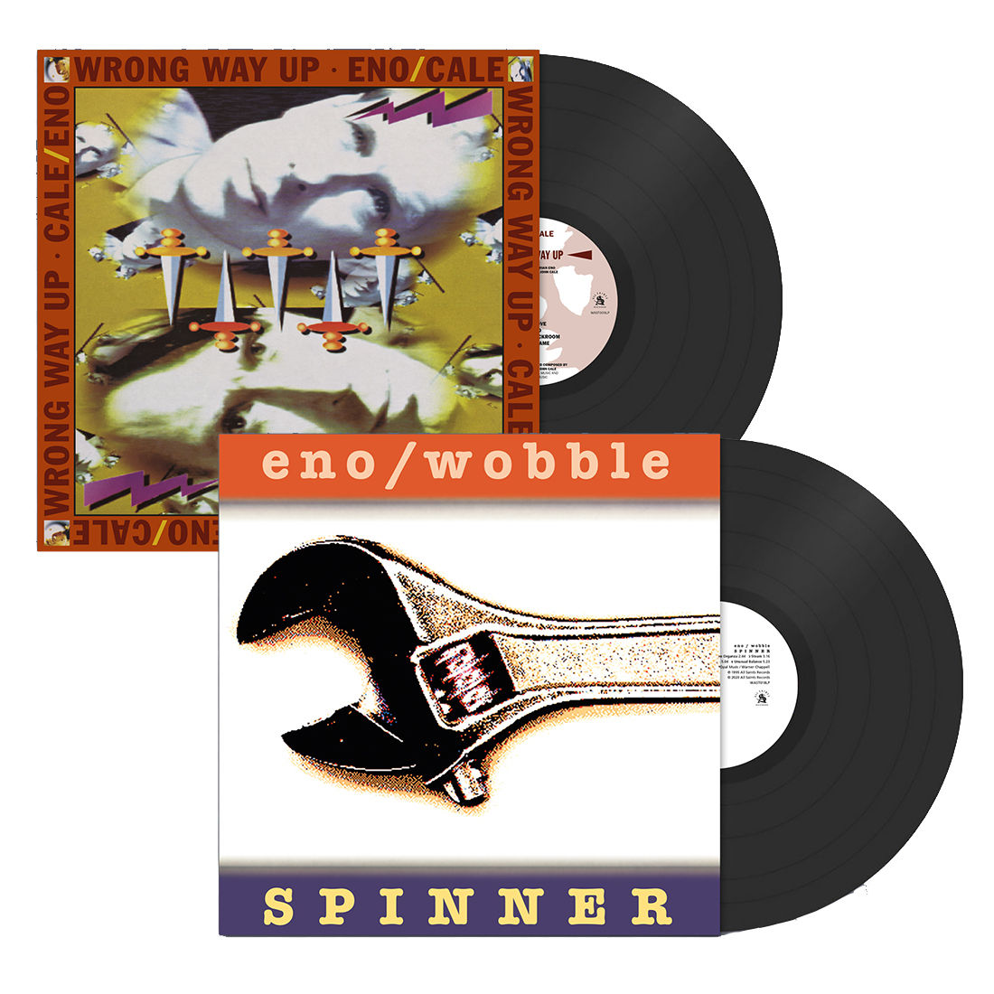 Brian Eno & John Cale – Wrong Way Up/  Brian Eno & Jah Wobble – Spinner (All Saints Records) (Re-issues)
