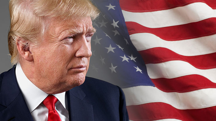 Image result for DONALD TRUMP American flag