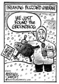 Groundhog Blizzard Cartoon