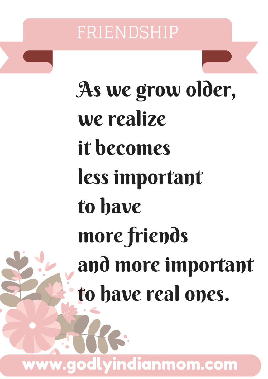 As we grow up,we realize it becomes less