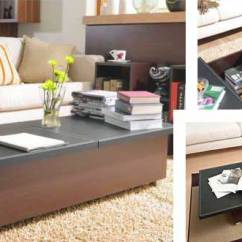 Tables Living Room Design Black White And Purple Ideas Furniture For Small Spaces 17 Genius Affordable Must See 14 Coffee Table With Storage
