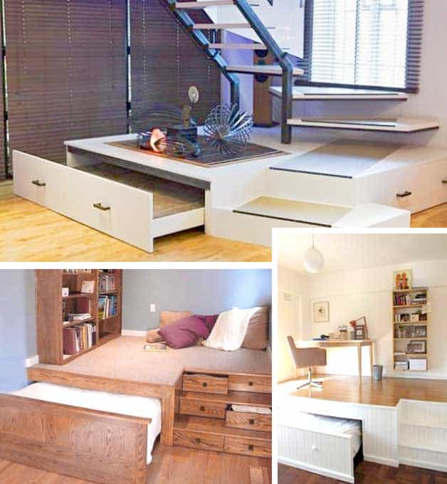 tiny house space saving furniture