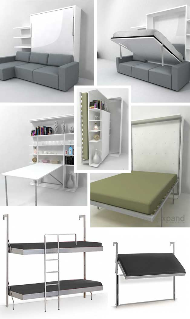 murphy bed in small living room large wall clocks cheap beds 9 genious at affordable prices bookcase