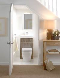 4 Cool Under-Staircase Toilets and Bathrooms