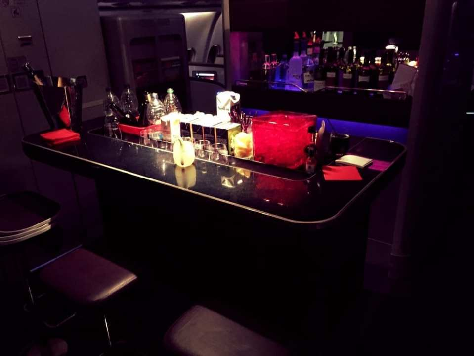Upper Class bar where I rang in the New Year. Cheers!