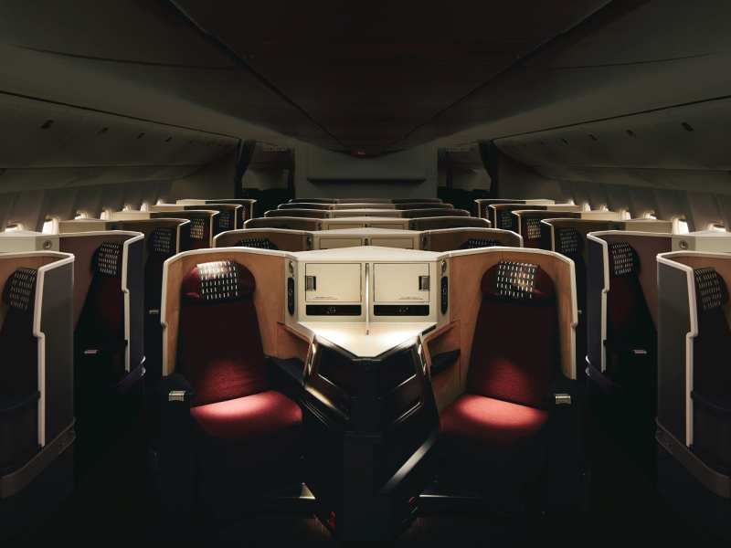 Japan Airlines Business Class Cabin