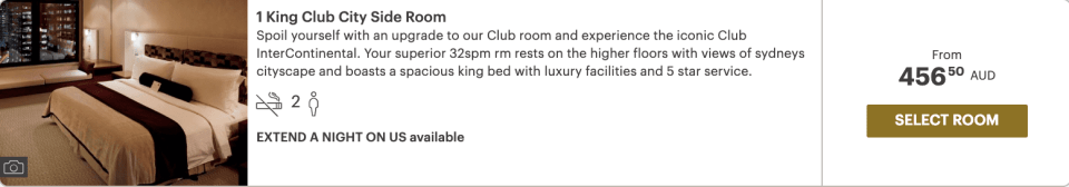 Intercontinental Extend A Night On Us