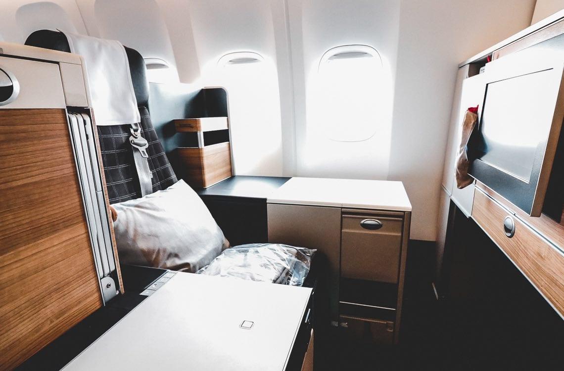 Swiss Business Class Seat Boeing 777