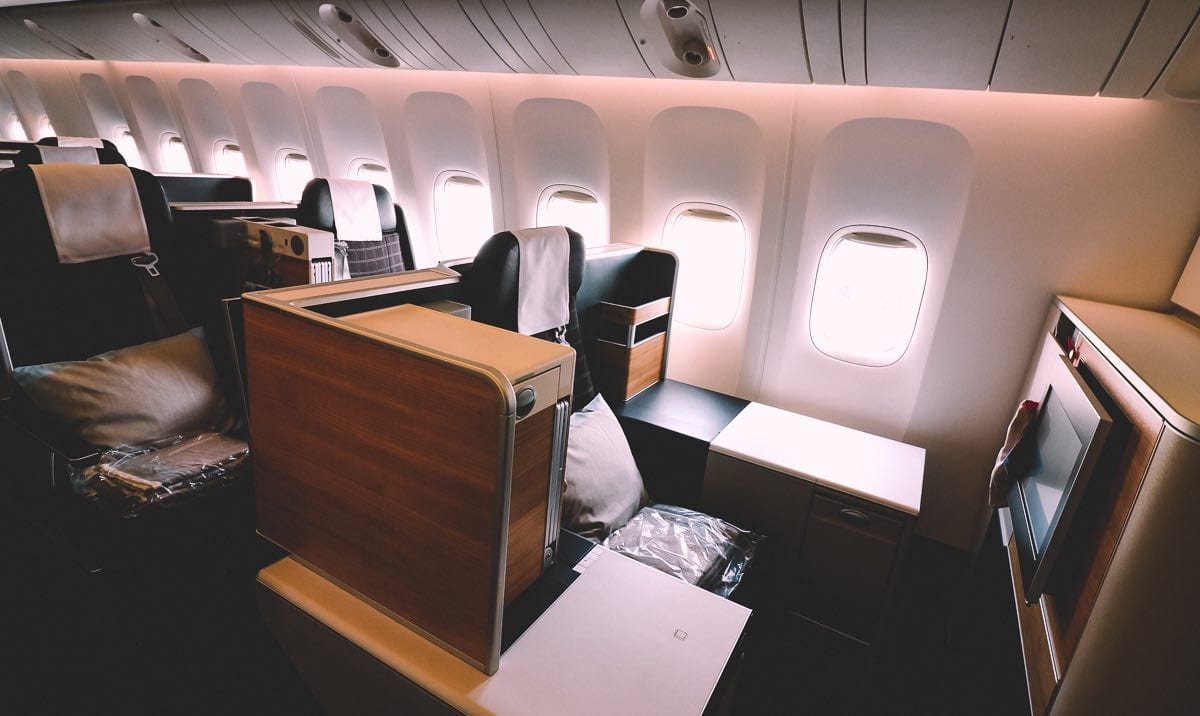 swiss 777 business class throne seat