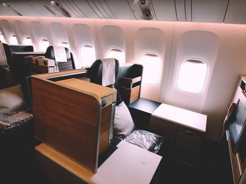 swiss 777 business class throne seat