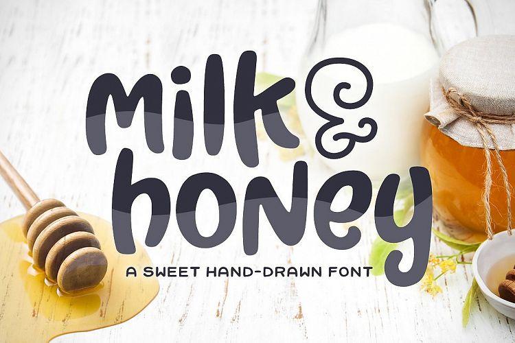 Milk & Honey Font Delightful Font