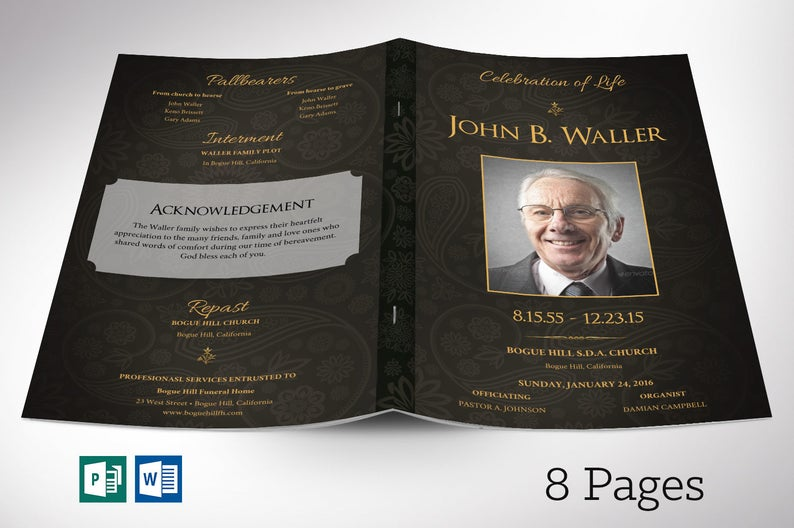 Funeral Programs for Men