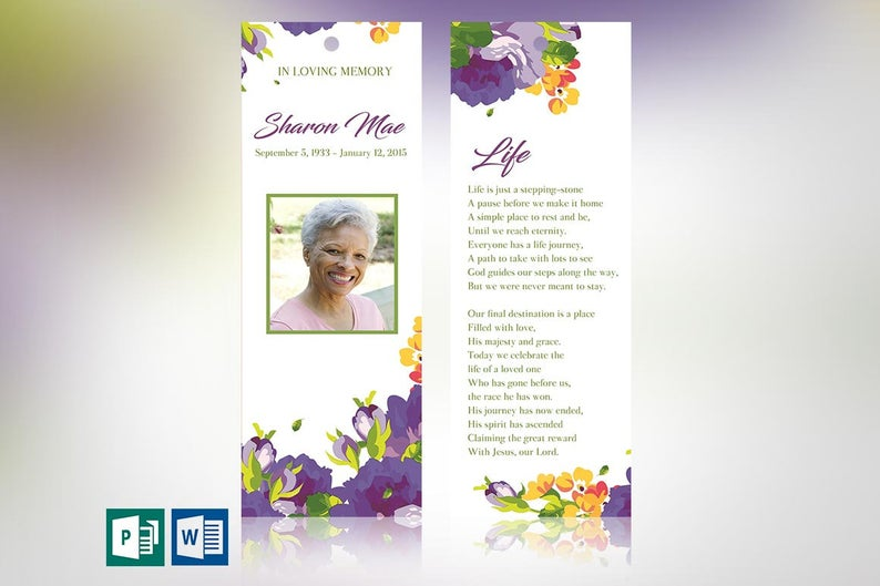 Funeral Bookmark Templates