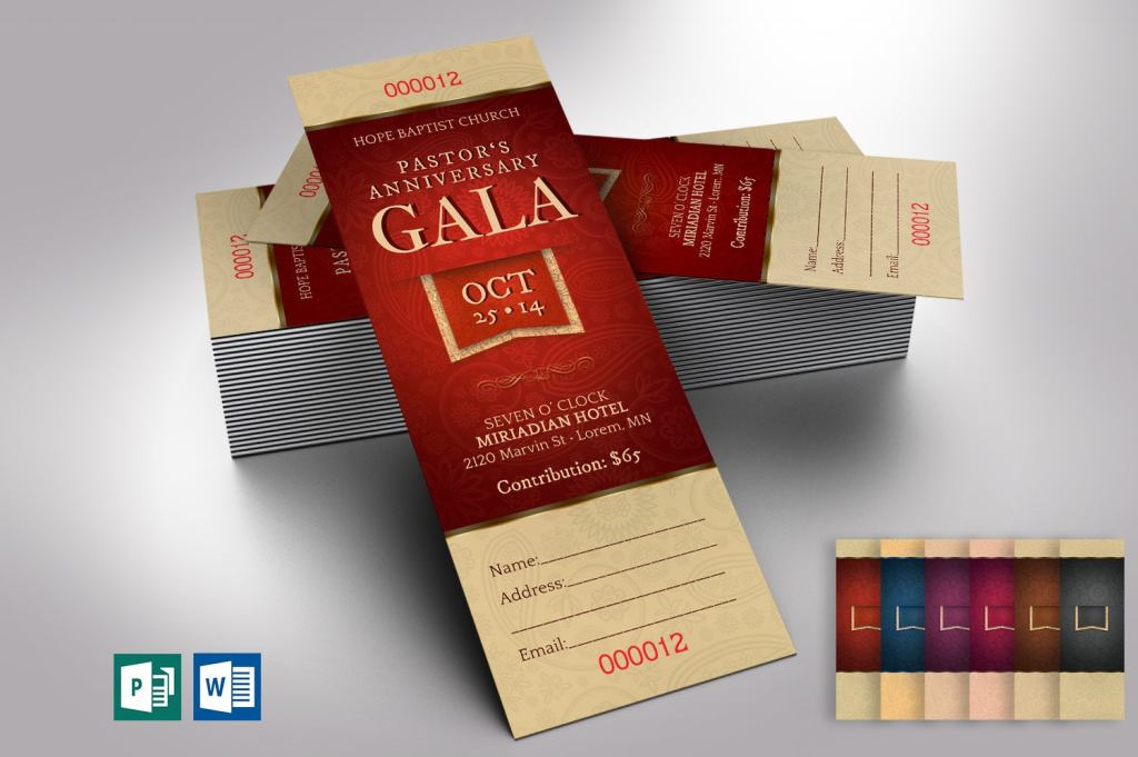 Pastor Appreciation Gala Ticket Template