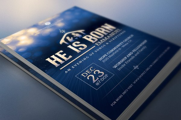 He is born flyer Print Templates