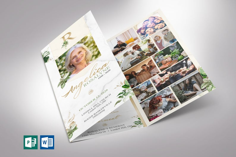 Tropica Trifold Funeral Template