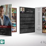 Red Rock Funeral Program Word Publisher Tabloid Template