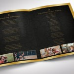Black Dignity Funeral Program Word Publisher Tabloid Template