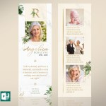 Tropica Funeral Bookmark Word Publisher Template