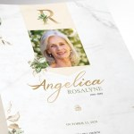 Tropica Funeral Program Word Publisher Large Template