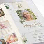 Tropica Legal Trifold Funeral Program Word Publisher Template