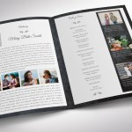 Graystone Funeral Program Word Publisher Tabloid Template
