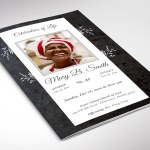 Graystone Funeral Program Word Publisher Template