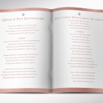 White Rose Gold Funeral Program Word Publisher Template