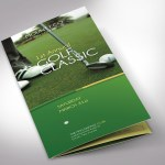 Charity Golf Tournament Trifold Brochure Word Publisher Template