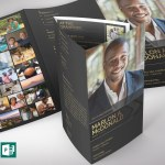 Gold Luxury Legal Trifold Funeral Program Word Publisher Template