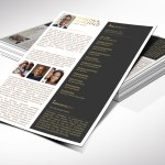 Gold Luxury Letter Funeral Program Word Publisher Template