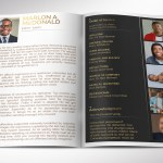 Gold Luxury Funeral Program Word Publisher Template