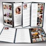 Graystone Tabloid Trifold Funeral Program Word Publisher Template