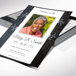 Graystone One Sheet Funeral Program Word Publisher Template