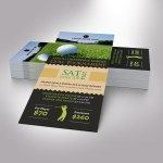 Charity Golf Ticket Word Publisher Template