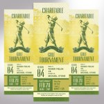 Charitable Golf Tournament Ticket Word Publisher Template