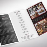 Red Rock Legal Trifold Funeral Program Word Publisher Template