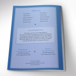 Blue Diamond Funeral Program Word Publisher Template