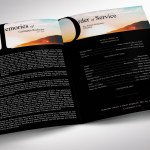 Sky Tabloid Funeral Program Word Publisher Template