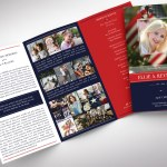 American Military Legal Trifold Funeral Program Word Publisher Template