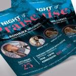Praise Concert Flyer Word Publisher Template