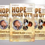 Charity Gospel Concert Flyer Word Publisher Template