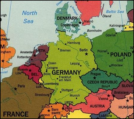Image result for map germany and denmark