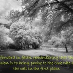 On Being Called and Stepping Out in Faith