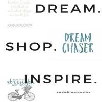 Dream. Shop. Inspire. God-sized Dreams new print shop!