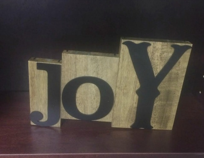 Letterpress Joy Dayspring